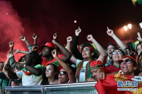 葡萄牙球迷庆祝国家队欧锦赛夺冠