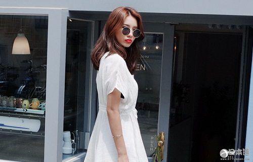 白色 上衣 连衣裙 单品