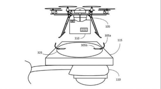 亚马逊无人机新专利:路灯杆都能停飞机
