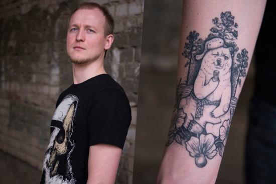 但他们都选择用纹身的方式来表达