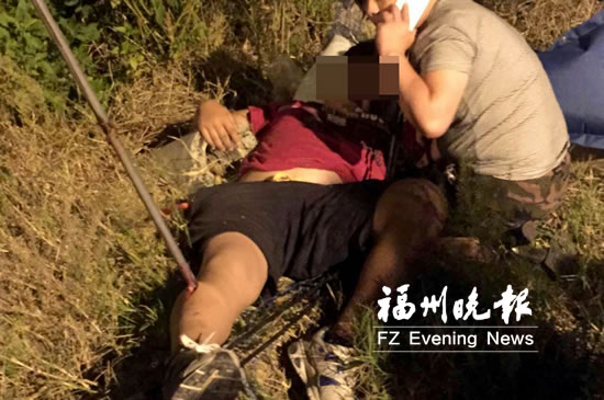 男子爬高压线塔掏鸟窝不慎坠地 小腿被钢管穿透