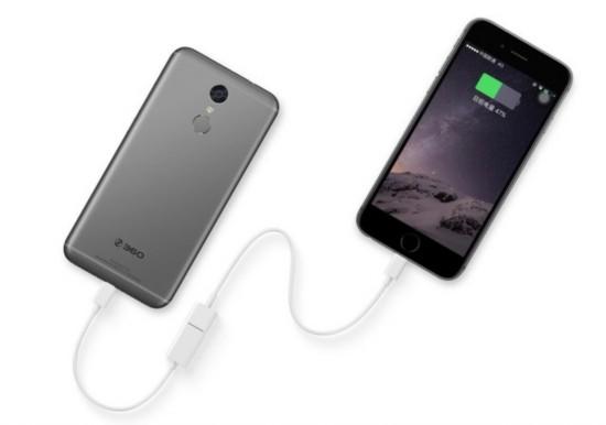 向充电的手机(图片引自360手机官网)-360手机N4S评测 200元的