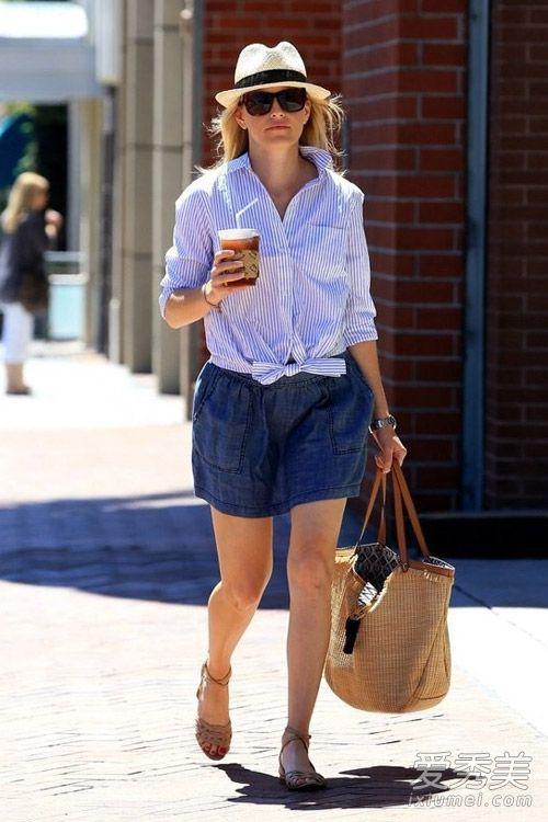 牛仔裙的搭配夏天穿牛仔裙皮肤狂野俏皮性感qq性感女生图片
