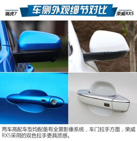 奇瑞瑞虎7对比荣威RX5高清图片