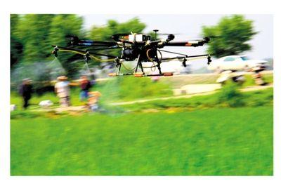宁夏农垦开展大面积无人机植保航化作业