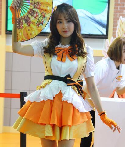 上海chinajoy展会 showgirl清新自然上演可爱风