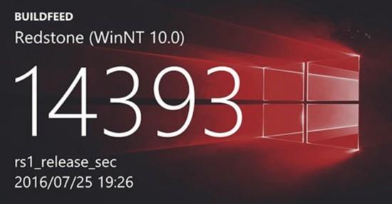 Win10周年更新预览版曝光:序号14393.31