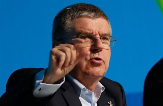 (里约奥运会)(5)国际奥委会主席巴赫举行新闻发布会