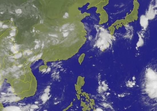 卫星云图。(图片来源:台湾《联合报》)