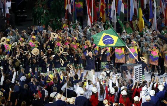 里约奥运会开幕式东道主巴西入场
