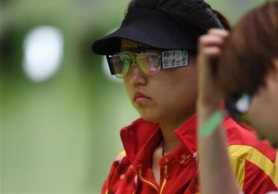 女子10米氣手槍:張夢雪為中國隊摘得首金