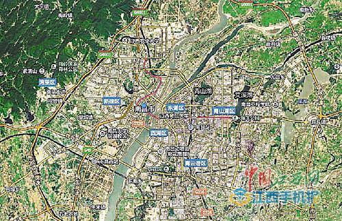 """卫星地图带你看""""南昌绿""""--江西频道--人民网"""