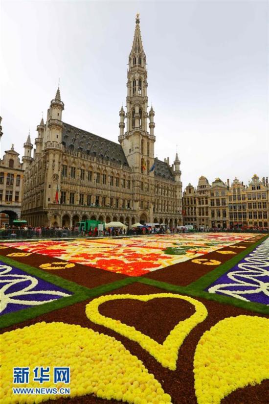 布鲁塞尔大广场再现鲜花地毯