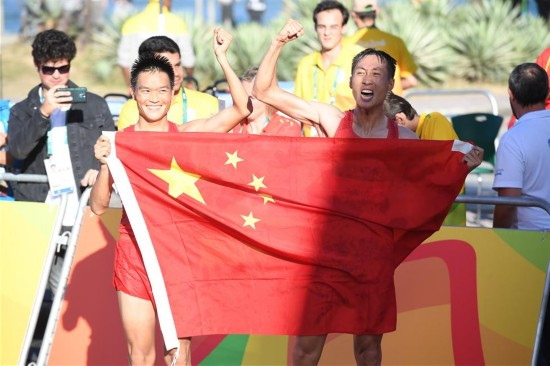 田径男子20公里竞走:中国选手包揽冠亚军