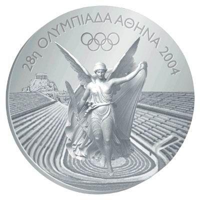 2004雅典奥运会奖牌正面