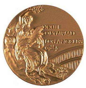 1984洛杉矶奥运会奖牌正面-组图 盘点中国队参加奥运会以来的历届奖