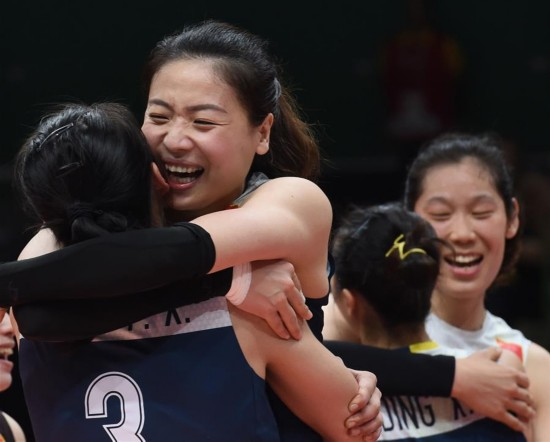 (里约奥运会)(15)排球――女排:中国队晋级四强