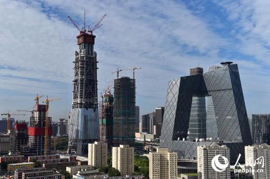 """""""中国尊""""成为北京第一高楼(组图)"""