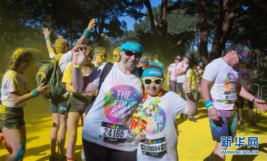 地球上最欢乐的5公里跑:彩色跑悉尼站开跑(组图)