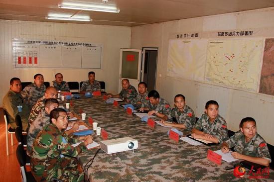 中国赴南苏丹维和工兵全优通过首次联合国战备评估