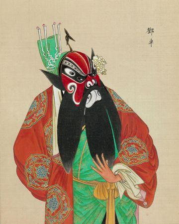 现存美国的《百幅京剧人物图》(四)