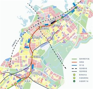 地铁3号线东延工程线路图.-深圳地铁3号线东延工程开工 2020年底建图片