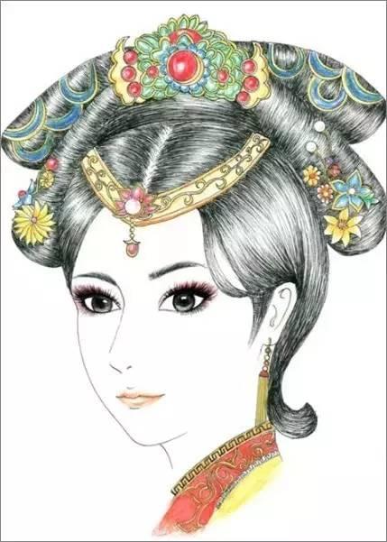 古代女子发饰多种多样,有笄,簪,簪花,钗,梳钗,环,步摇,凤冠,华盛