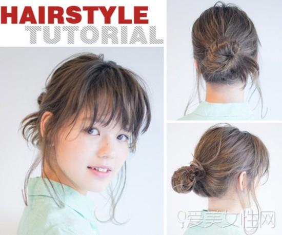 一个简单随性的扎发,或者是你周末发型的好选择,那么中长发怎么扎才
