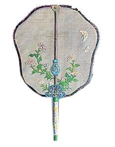 清乾隆象牙丝编织珐琅柄宫扇北京保利2009春拍拍品