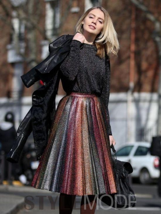 百褶裙的四季搭配方案
