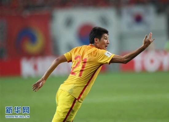 世预赛:国足首战2-3不敌韩国(组图)