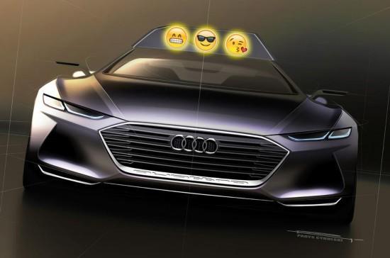 """美初创公司新颖创意 无人驾驶汽车将带""""表情"""""""