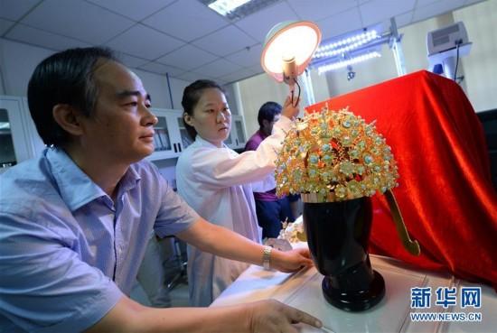 扬州隋炀帝萧后冠在西安完成修复仿制