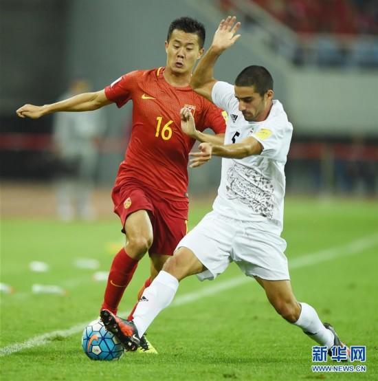 2018世界杯预选赛 中国队主场0 0战平伊朗队