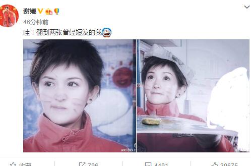 谢娜昔日短发照十分青春脸上抹灰变小花猫(图)
