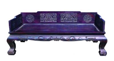 紫檀雕螭龙纹罗汉床