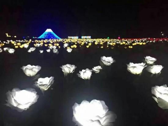 泰州香草湾海船长环球国际灯光节中秋启幕