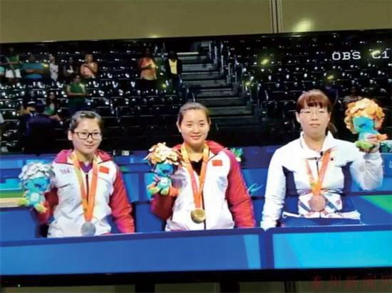泰州媳妇勇夺残奥会金牌 为该市历史第二块