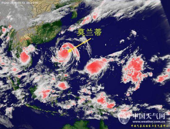 """台风""""莫兰蒂""""已靠近福建漳浦 最新实时卫星云图曝光(组图)"""