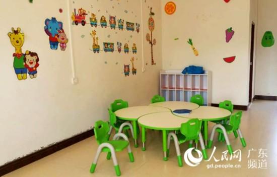 村里为留守儿童设的活动中心。