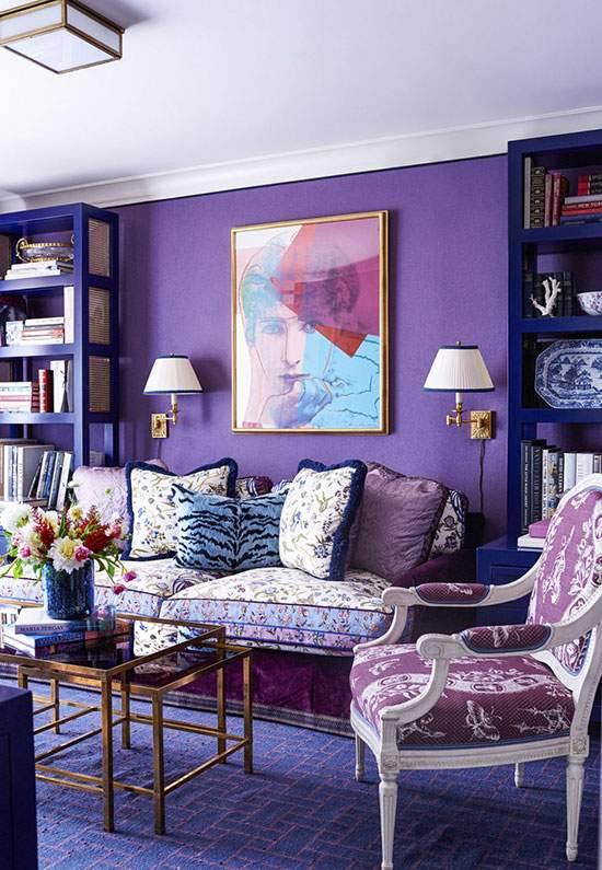 紫色与蓝色的二重奏 迷幻得不尽真切