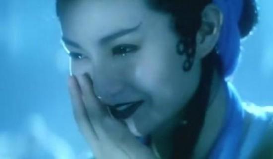 张曼玉在《青蛇》中的哭戏.