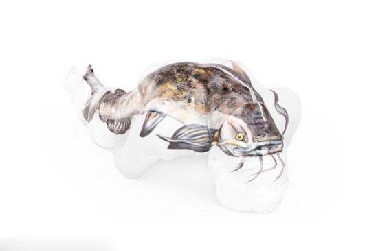 赞!英彩绘师人体上描绘灵动动物王国(组图)