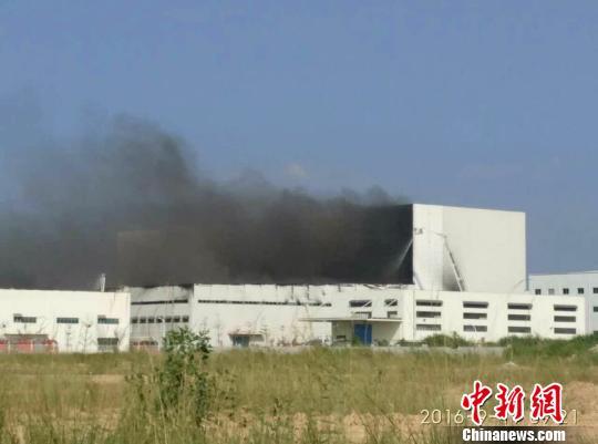 普利司通惠州工厂发生大火现场浓烟滚滚(图)