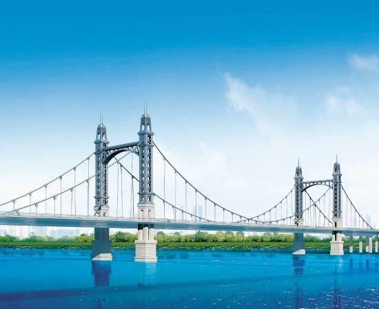 """沈阳首座""""双桥塔""""跨浑河桥年底前开建"""
