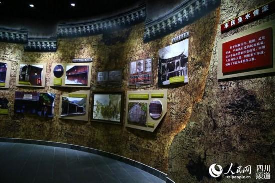 纪念馆内主要体现军民鱼水情的展区。(朱虹 摄)