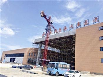 泰州高港汽车站主体工程封顶 预计年底建成