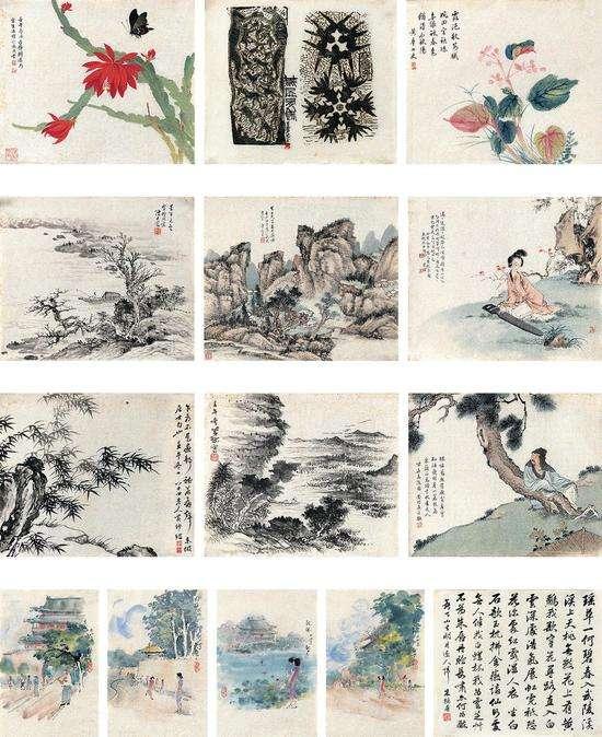 蒋兆和、刘凌沧、萧�舻仁�二家 花鸟・山水・人物・书法・木刻版画-2 RMB28-38万