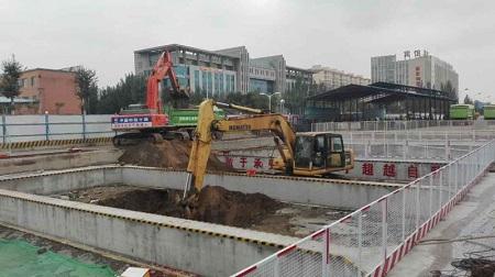 孔家营站深基坑土方开挖