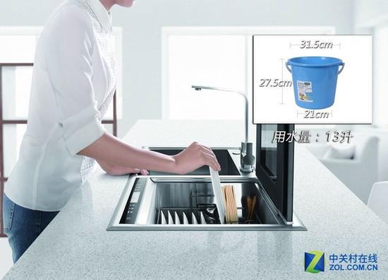 一次标准洗涤用水量为13L